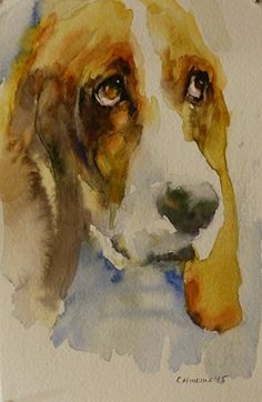 Daily Paintworks - - Original Fine Art for Sale - © Katya Minkina Watercolor Illustration, Watercolor Paintings, Watercolors, Dachshund, Dog Artist, Dog Artwork, Watercolor Animals, Dog Portraits, Animal Paintings