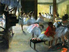 Edgar Degas, École de danse on ArtStack #edgar-degas #art