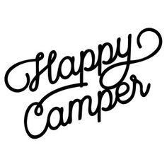 Silhouette Design Store: happy camper script