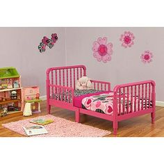 Dream On Me Jenny Lind Fashion Forward Toddler Bed, Pink ooooooh Isla could have a pink toddler bed!
