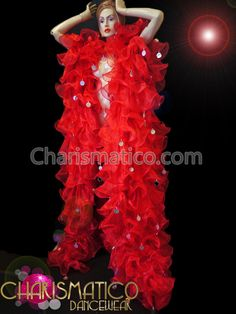 Charismatico Dancewear Store - Charismatico Sleeveless Red Organza Drag Queen Stage Coat with Silver Sequins, $150.00 (http://www.charismatico-dancewear.com/products/Charismatico-Sleeveless-Red-Organza-Drag-Queen-Stage-Coat-with-Silver-Sequins.html)
