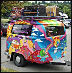 Ok so it's a little too groovy for me, but repaint it that light blue that you always see on old Volkswagen buses and keep the vintage suitcases. Attach it to an old truck and wander like its your job.