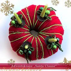 """Weihnachtsdeko - Adventskranz """"Santa Clause"""" - ein Designerstück von…"""