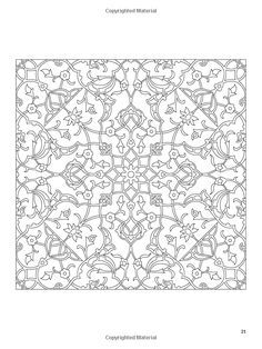 Dover Publications / Arabic Floral Patterns Coloring Book / Nick Crossling / Amazon.com