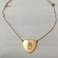 @jennifermeyer @barneys initial diamond pink rose gold heart necklace pendant @barby_ds twitter