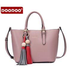 New Women Messenger Bags High Quality 2016 Tassel Handbag Women Famous Brands Shoulder Bag Composite Bag Wholesale Bolsos Tote