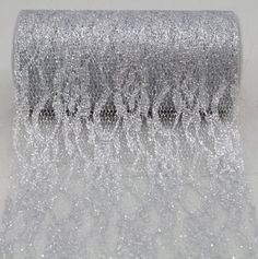 """6"""" wide x 10 Yards Sparkle Floral Pattern Lace Fabric for Decorating, Floral Designing and Crafts (Silver) AK TRADING CO. http://www.amazon.com/dp/B00I0HFT5Q/ref=cm_sw_r_pi_dp_-t7Ivb0PYKWH6"""