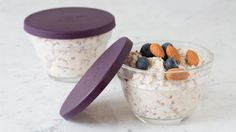 Make this portable recipe tonight for an easy, on-the-go morning. Serve warm or cold. Will keep up to three days in your fridge. Perfectly balance your plate: Top with ½ C ml) plain Greek yogurt, 2 Tbsp ml) nuts and 1 C ml) mixed berries. Epicure Recipes, Healthy Recipes, Clean Recipes, Sweet Recipes, Healthy Breakfasts, Healthy Eats, Sunday Recipes, Brunch Recipes, Breakfast Recipes