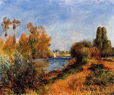 The Seine at Argenteuil 1888 - Pierre-Auguste Renoir Paintings Pierre Auguste Renoir, Claude Monet, Charles Gleyre, August Renoir, Cagnes Sur Mer, Renoir Paintings, Oil Paintings, M48, Impressionist Artists