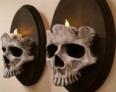 Human Skull - sconces