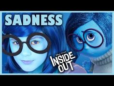 INSIDE OUT SADNESS MAKEUP TUTORIAL! | DISNEY PIXAR COSPLAY! | KITTIESMAMA - YouTube