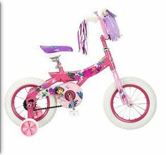 """Nickelodeon Dora the Explorer 12"""" Girls' Bike by Nickelodeon. $109.99. Nickelodeon 12"""" Girls' Dora the Explorer Bike. Children's sidewalk bike. Equipped with a bell, streamers and a handlebar bag to carry any treasures found along the way, the Nickelodeon Dora The Explorer 12"""" Girls' Bike will charm its way into your little girl's heart. The pink colored frame with Dora design and accessories adds the element of attractiveness to this sidewalk bicycle. The screen ..."""