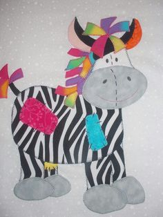 Zebra appliqué
