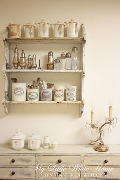 My Little White Home by Nadine: Kitchen rack~~~~This is the perfect shelf and what I would love to have on mine~~~~