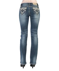$49.99 Look what I found on #zulily! Denim Embellished-Pocket Jeans #zulilyfinds