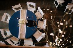 #kfb_events #Photography #NavyandGold #Sequin #BarnWedding #Flowers #Weddingcenterpieces #Prattplacebarn | white wood chairs | wedding tool | romantic lights