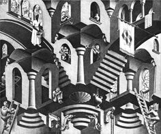 Convex and Concave - M.C. Escher - 1955