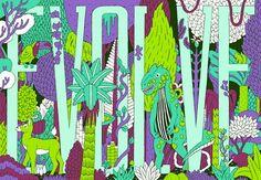 Psychedelic artwork by Jake Blanchard.