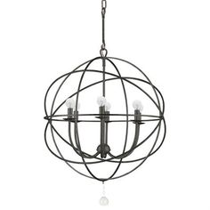 Wrought Iron Orbit Chandelier Medium