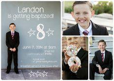 Cute baptism invite