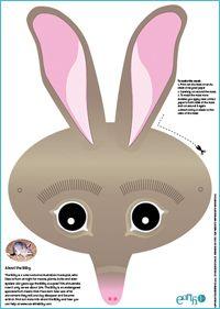 Endangered animal masks for kids http://www.earthfirst.net.au/kids-tip#