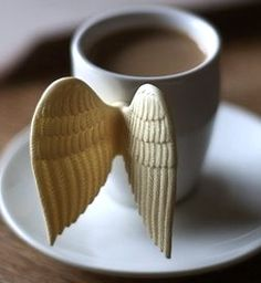 wings....awwww! I really want to have my morning coffee with this cup!
