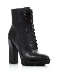 Kenneth Cole Oaks Lace Up High Heel Booties | Bloomingdales's