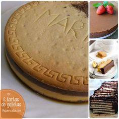 Tarta de galletas, 6 recetasr