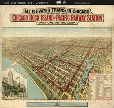 #Map of Elevated #Trains in #Chicago (1897) #transit — http://www.bigmapblog.com/2011/elevated-trains-in-chicago/