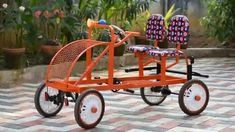 Describes how to make a Pedaling car for kids,using bicycle parts&steel structure.Simple mechanism used,parts available in Indian market.It is easy for drivi. Custom Motorcycle Shop, Motorcycle Travel, Diy Spinning Wheel, Vespa Scooters, Rear Wheel Drive, Pedal Cars, Diy Car, Transportation Design, Electric Cars