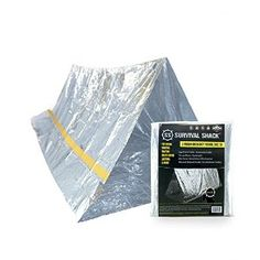 Amazon.com : Survival Shack Emergency Survival Shelter Tent | 2 Person Mylar Thermal Shelter | 8' X 5' All Weather Tube Tent | Reflective Material Conserves Heat | Lightweight | Waterproof | Best Survival Gear : Sports & Outdoors