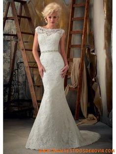 Sexy y elegante vestidos de novia con mangas cortas 2013 morilee