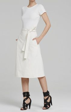 Donna Wrap Skirt in Natural
