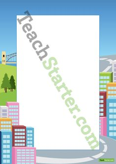 City Page Border   Teaching Resources - Teach Starter