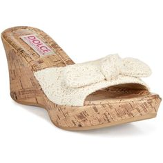 Dolce by Mojo Moxy Piper Platform Wedge Sandals (€23) ❤ liked on Polyvore featuring shoes, sandals, beige, beige shoes, mojo moxy shoes, beige sandals, macrame sandals and bow sandals