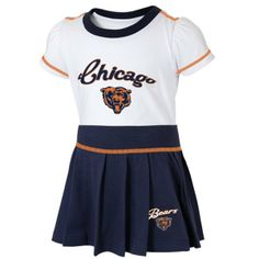 Chicago Bears Infant Team Spirit 2-Piece Cheerleader Set by Adidas | Sports World Chicago $24.95  #ChicagoBears