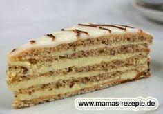 Esterhazytorte Esterhazy Torte, Tasty Bakery, Recipe For Mom, Tiramisu, Food Pictures, Vanilla Cake, Wedding Cakes, Food And Drink, Sweets