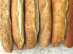 Recipe: Ultimate Sourdough Baguettes made from fed or unfed starter Sourdough Baguette Recipe, Sourdough Recipes, Sourdough Bread, Bread Recipes, Cooking Recipes, Starter Recipes, Cooking Tips, King Arthur Flour, Homemade Cheese
