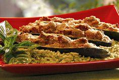Turkey-Stuffed Zucchini Boats