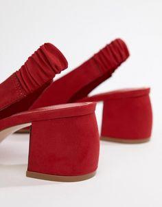 87b312525 Stradivarius sling back shoe in red · Fashion OnlineAsosRed