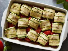 Best Tomato Recipes Cheesy Zucchini Packets with Roasted Tomatoes - Put in-season zucchini to good use this summer with top-rated, seasonal recipes from Food Network. Best Zucchini Recipes, Vegetable Recipes, Healthy Recipes, Vegetarian Recipes, Meat Recipes, Recipies, Dinner Recipes, Ricotta, Food Network Recipes