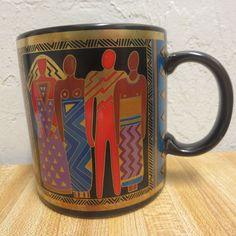Vintage Laurel Burch Coffee Mug Tribal Spirit 1988