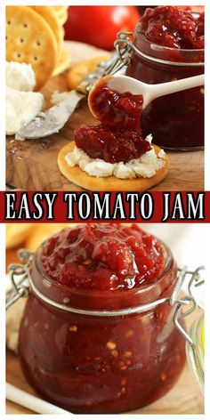 Tomato Jelly, All You Need Is, Great Recipes, Favorite Recipes, Fresh Tomato Recipes, Jam And Jelly, Fruit Jam, Jelly Recipes, Canning Recipes
