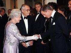 Though he wasn't on Her Majesty's Secret Service at the moment, the tuxedo-clad actor was having a very James Bond moment as he bowed to the monarch at the London premiere of Casino Royale in 2006.