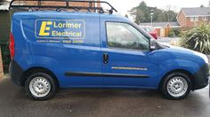 The Green I Signs Blog: Van signwriting repair for Lorimer Electrical
