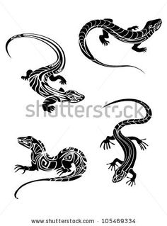 tattoo lizard - Google Search                                                                                                                                                      More