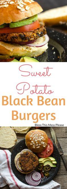 Sweet Potato Black Bean Burgers ~ Sweet, bold, and zesty Sweet Potato and Black Bean Burgers are my favorite veggie burgers around.
