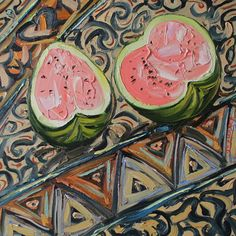 """Saatchi Art Artist Lenur Velilyaev; still life painting, """"Still-life with Watermelon"""" 