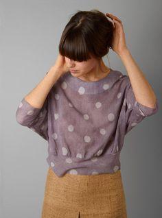 Trixie Sweatshirt Style Blouse / A Détacher i love polka dots. Fashion Mode, Look Fashion, Fashion Shoes, Girl Fashion, Fashion Ideas, Mode Style, Style Me, Retro Style, Simple Style