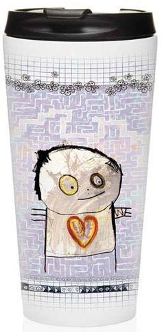 ToGo Termomugg Labyrinth - Poul Pava - RumAttÄlska.se Birthday Wishes, Snoopy, Illustration, Kitchen, Painting, Fictional Characters, Inspiration, Art, Drawings
